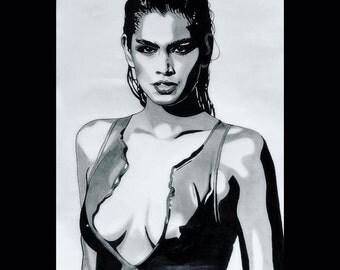 Cindy Crawford - 90's (Original Artwork)