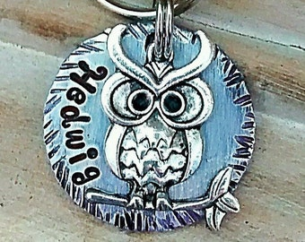 Pet ID - Dog Tag - Pet Accessories - Collar Tag - Pets - Pet Tag - Metal ID - Custom ID Tag - Personalized Pet Tag - Owl