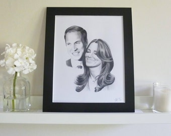 Prince William and Kate Middleton Limited Edition Art Print