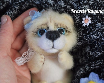 Needle felted bear, Felted animal, wool felt teddy-bear, soft sculpture, Needle felted animal, felted toy bear, home decor, felt ornaments