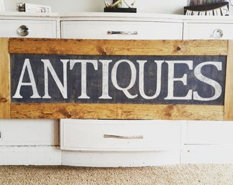 Antique wood sign, rustic home decor, rustic wood decor, wood frame, farmhouse decor, wood sign, antiques home decor, farmhouse wood sign