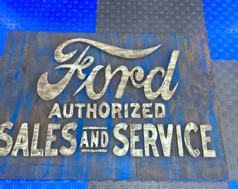 Ford Sales and Service Sign Recreation