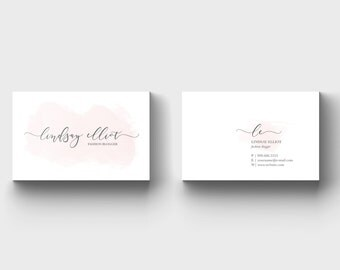 Fashion Blogger Business Card - Blogger Business Card - Feminine Business Card - Blog Business Card - Calling Card - Business Card