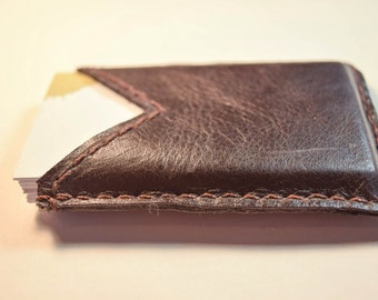 Repurposed Leather, Leather sleeve, debit card holder, upcycled debit, card sleeve, business card sleeve, card sleeve, minimalist leather