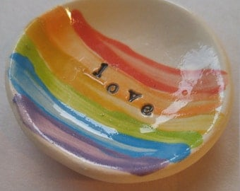 Rainbow Love Treasure Bowl - 2.5""