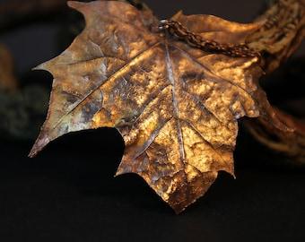 Sycamore Leaf Pendant