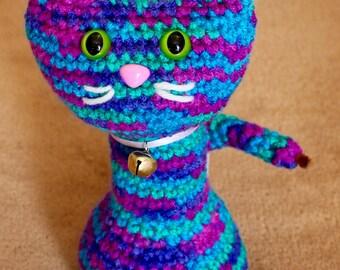 Crochet Cat- Blue/Purple