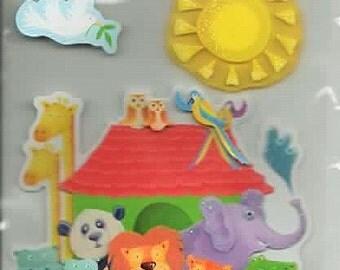 Noah's Ark Nursery La Petites 3D Scrapbook Stickers Embellishments Cardmaking Crafts