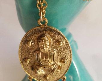 Large Vintage Buddha Pendant