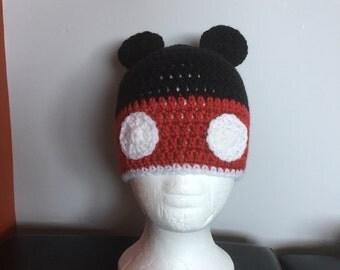 Mickey Mouse Crochet Beanie Hat