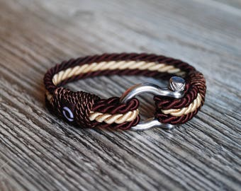 Men Bracelet, Brown Rope Bracelet, Fancy Rope Bracelet, Elegant Cord Bracelet, Stylish Men Bracelet, Mens Bracelet, Twisted Cord Bracelet