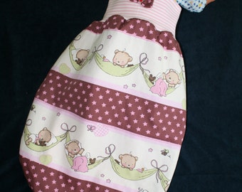 "romper bag / baby sleeping bag ""Bear dreams"""