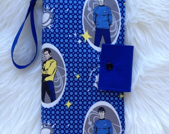 Star Trek Captain Kirk and Mr Spock nappy wallet/ nappy clutch for baby changes