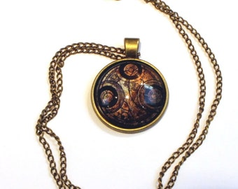 Seal on Aged Paper Necklace or Keychain Doctor Who Various Colors