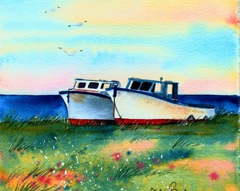 Fishing boats - Print no.1311