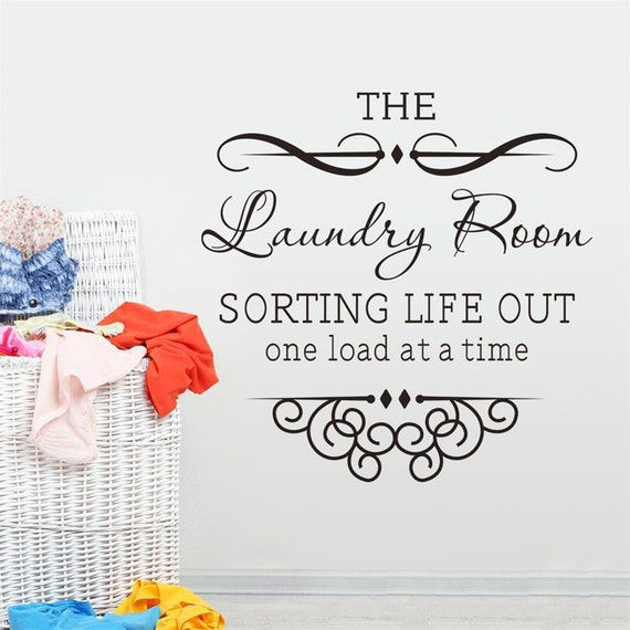 Vinyl Wall Decal - Laundry Room Sorting out one thing at a time  vinyl wall decal, house decor
