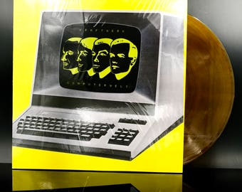 KRAFTWERK VINYL RECORD - Computer World / Computerwelt - Amber Colored Vinyl Record - Electronic Lp - Electro Synth - Great Gift!