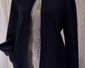 Vintage  Navy Blue Cardigan