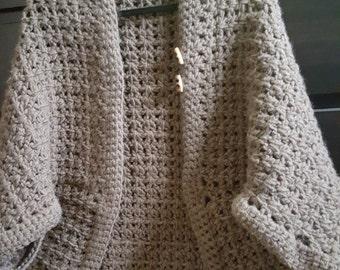 Crocheted Blanket Shrug