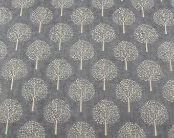 Winter Trees design  Linen Fabric