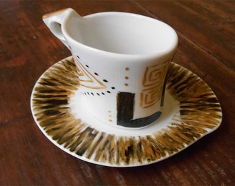 Coffee Set for single-geometrical pattern