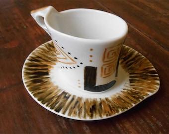 Coffee set for singles-geometric pattern