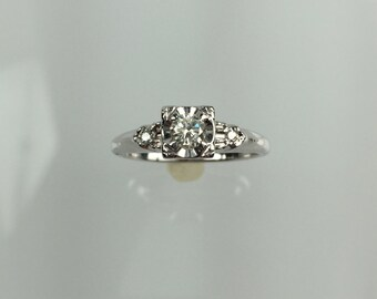 Vintage 1940's diamond ring .18ct