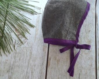 Baby Bonnet, Linen Bonnet, Brimless Bonnet, Brimmed Bonnet, Sun Bonnet, Baby Hat, Toddler Hat, Winter Baby Hat