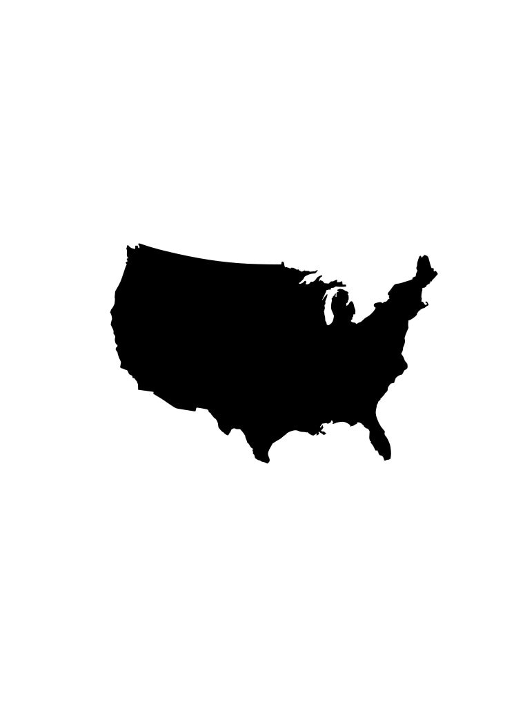 United States Map Silhouette Stock Illustration ...
