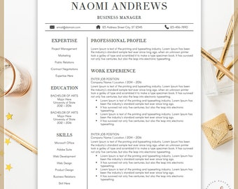 Professional Resume Template, CV Template for MS Word, Creative Resume, Modern Resume Design, Resume Instant Download, Buy One Get One Free