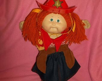 1983 Vintage Cabbage Patch doll with Cowgirl outfit