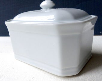 Vintage French Bowl white porcelain for dough Foie gras tureen cooking decorating shabby campaign former french rustic