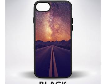 Stars Night Sky Road Highway Nature Desert Phone Case for iPhone 5 iPhone 7 iPhone 6 iPhone 7 Plus iPhone 6 Plus iPhone SE Samsung Galaxy