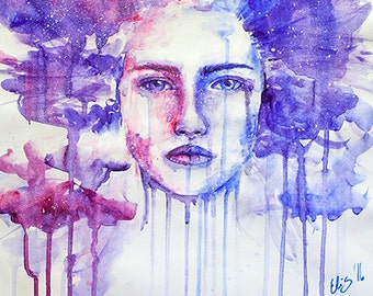 Away// Watercolor Giclee Print