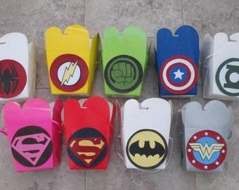 Superhero Party Favor Boxes