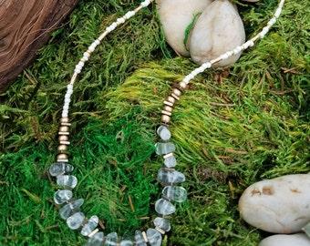 Quartz Crystal Teardrop Necklace  08