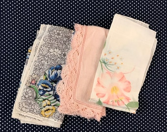 Set of 3 Hankies/ Handkerchiefs (Useful and Lovely!)