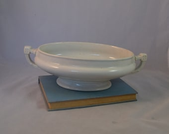 Ironstone China Oval Serving Bowl  made by J.M. & Co. from 1895 and on