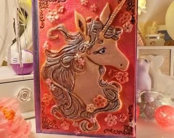The Last Unicorn themed Journal das letzte Einhorn Notizbuch