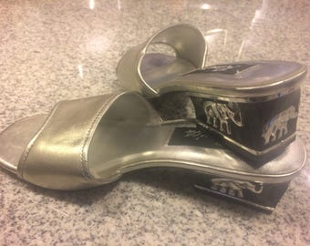 Silver Heels with Elephants