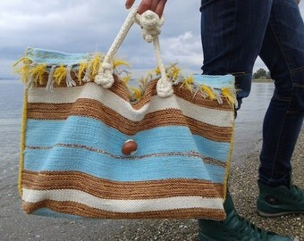 Large tote kilim bag. Boho shoulder bag. Handmade tote bag. Handmade ladies kilim bag.