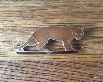 Jaguar enamel brooch - vintage - wild animal lover - big cat
