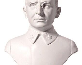 Russian Soviet USSR KGB / NKVD Leader Lavrentiy Beria Marble Bust / Statue 15cm (5.9'') white