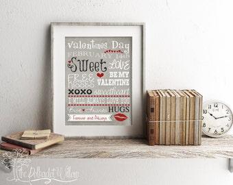 8x10 11x14 DIGITAL Valentines Digital Print Subway Art 04 watercolor print printable art wall art inspiration quote