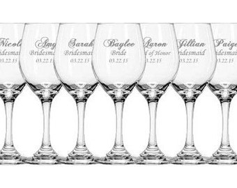 "Wedding Party Glassware ""Made to order"""
