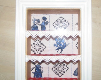 3D wall cabinet/display case Cabinet Dutch Glory Delft blue