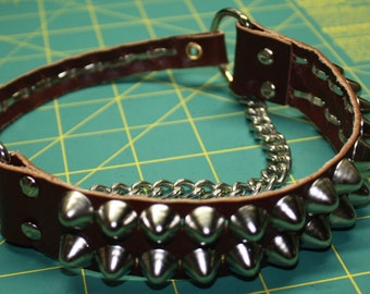 Brown Leather Studded Boot Belt