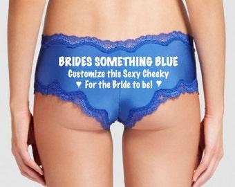 Brides Something Blue, Bridal Shower, Military Wife, Girlfriend, Future Mrs, Wedding Panties, Personalized Panties, Bachelorette Gift