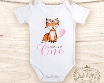First Birthday Outfit - Fox Birthday Shirt  - Woodland Birthday Onesie®