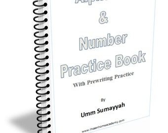 Alphabet and Number Practice Book with Prewriting Practice PRINTABLE DOWNLOAD